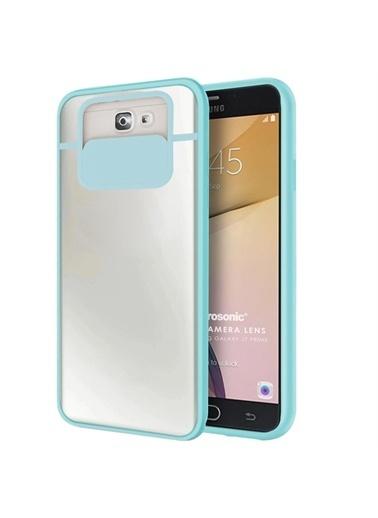 Microsonic Samsung Galaxy J7 Prime 2 Kılıf Slide Camera Lens Protection Kırmızı Turkuaz